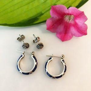 Jewelry - 2 pair of Sterling Silver Earrings